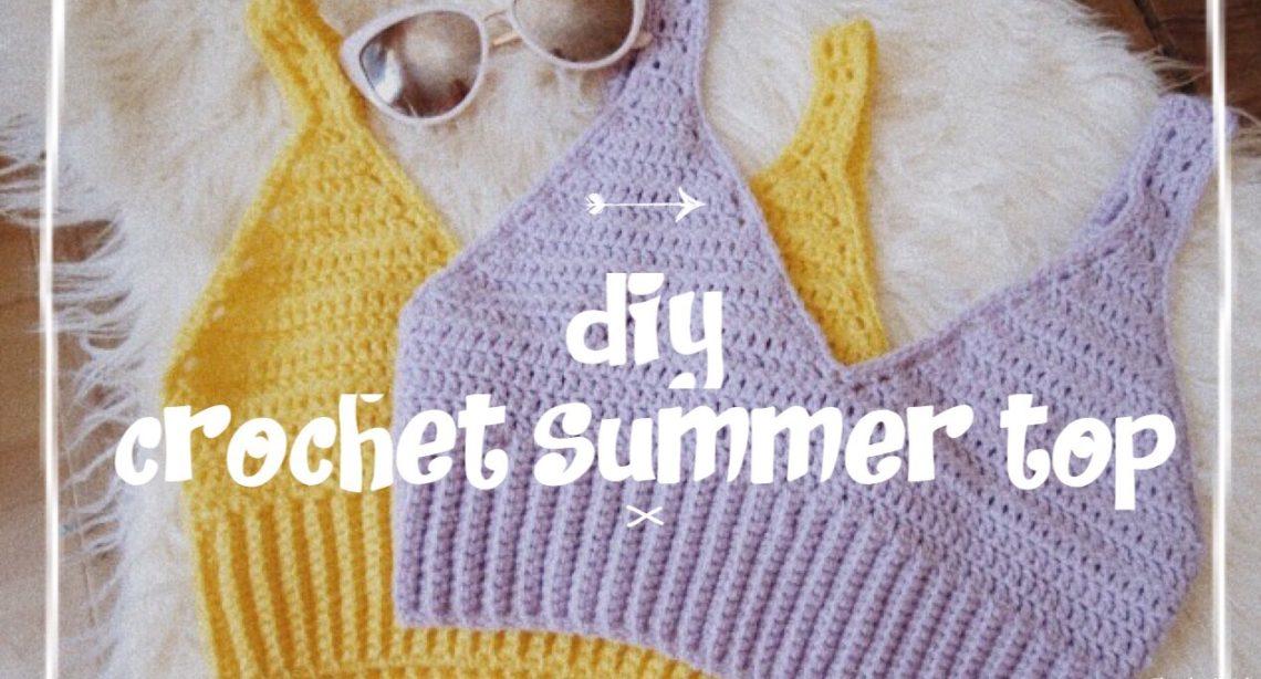 free crochet crop top pattern