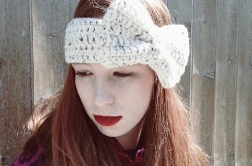 crochet bow ear warmer pattern